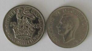 1937-1951 | George VI English/Scottish One Shilling | Choose Year | Free Post