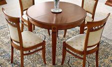à manger Rond télescopique Ducal Cerisier placage bois élégant Italie