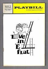 "Kathleen Nolan ""LOVE IN E-FLAT"" Hal Buckley 1967 Philadelphia Tryout Playbill"