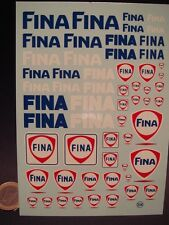 "DECALS 1/24  LOGOS PETROLIER "" FINA "" -  T124"