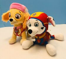 Lot of 2 Paw Patrol Skye & Marshall Dogs Stuffed Animals Spin Master Preowned