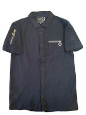 Fred Perry Raf Simmons Collaboration Thick Pique Cotton Polo Shirt size M