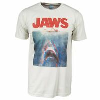 Mens Official Retro Jaws In Terrifying 3D T Shirt NEW Horror