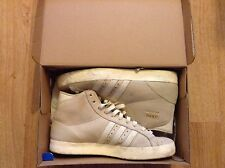 MENS ADIDAS BASKET PROFI HI TOPS TRAINERS SUEDE SIZE 5.5UK,grey&white