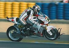 Randy De Puniet Autograph MotoGP Playboy HONDA SIGNED 12x8 Photo AFTAL COA