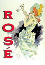 Art Poster - Rose Wine - Art - Deco - Kitchen A3 Art Poster Print