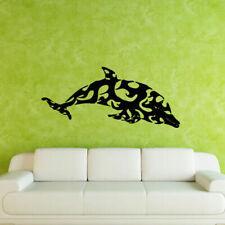 Wall Decal Sticker Vinyl Grampus Dolphin Fish Pattern Ocean Sea bedroom M341