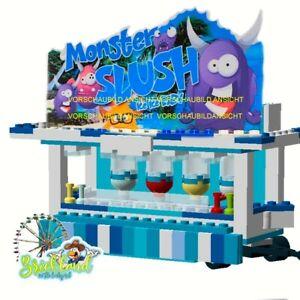 """Kirmesbude """"Monster Slush"""" Bauplan für LEGO/ andere Klemmbausteine."""