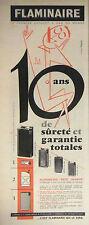 PUBLICITÉ DE PRESSE 1956 BRIQUETS A GAZ FLAMINAIRE PETIT TRIANON - ADVERTISING