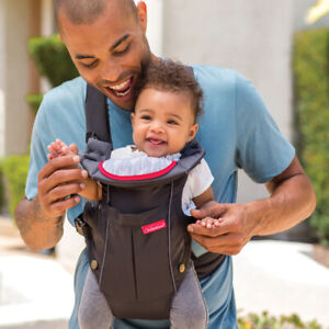 Infantino Swift Baby Carrier 2 Positions Pouch Compact Toddler Sling + Bib Black