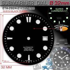 DIAL SUBMARINER CLASSICAL 500M/1640 FT Ø 32 mm, ETA 2824-2, SW 200, SUPER LUM C1