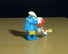 Smurfs Indian Smoking Peace Pipe Calumet Smurf Germany Vintage Figure Toy 20553