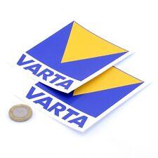 Varta Batteries Stickers Classic Car Rally Sponsor Racing Vinyl Decals 100mm x2