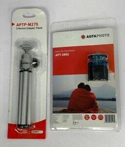 AGFA Pocket Size APTP-M275 Compact Tripod and APT-1601 Bottle Top Mount Set