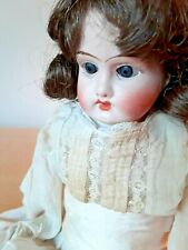 "Antique German Heubach? 15""Doll 14/0 Bisquehead&arms~sleep eyes~original clothes"