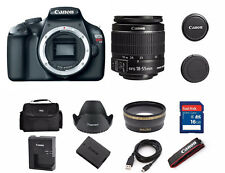 Canon EOS Rebel T3 12MP DSLR Camera with 18-55mm Lens Kit 5157B002  (2 LENSES)