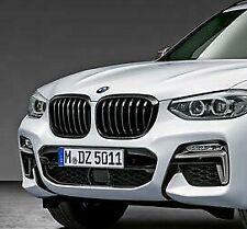 Pair BMW G01 X3 G02 X4 Gloss Black M Performance Kidney Grilles 51138469959 960