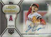 2019 Topps Update GRIFFIN CANNING Legacy of Baseball Auto 142/150 Angels RC