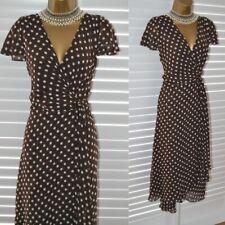 ~ LAURA ASHLEY ~ 'Pretty Woman' Brown Polkadot Dress Size 16 BNWT