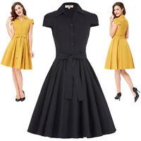 Lady Vintage 1950s Dress Cap Sleeve Audrey Hepburn Style Party Swing Pinup Dress