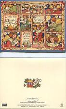 CHRISTMAS HARK HERALD ANGELS SING WHITE DOVE HEAVEN CARD 1 GARDEN TULIPS PRINT
