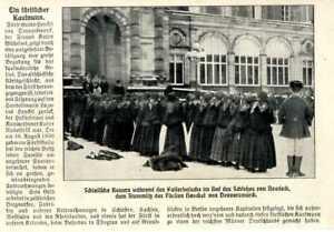 Kaiserbesuch bei Fürst Henckel von Donnersmarck Schloß Neudeck Schlesien v.1910
