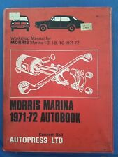 Morris Marina 1971-72 Autobook - Workshop Manual for Marina 1.3, 1.8, TC