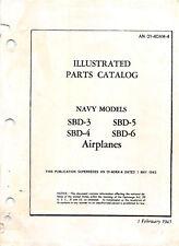 1945 SBD Series Illustrated Parts Catalog Aircraft Manuals Flight Manual -CD
