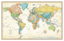 Rand Mcnally Laminated Classic World Map Laminated Poster Print, 50x32