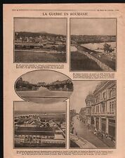 WWI Guerre Romania Roumanie Ville de Prédéal de Craiova Danube 1916 ILLUSTRATION