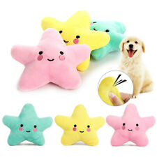 Pet Cat Dog Puppy Funny Star Chew Squeaker Squeaky Plush Sound Interactive Toys