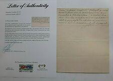 NAPOLEON BONAPARTE WIFE JOSEPHINE SIGNED LETTER DATED 3- 29, 1807 COA FROM PSA