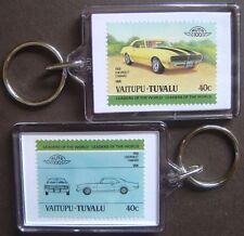 1968 CHEVROLET CAMARO Car Stamp Keyring (Auto 100 Automobile)