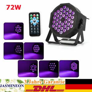 72W LED Bühnenlicht UV Strahler Licht Stageeffekt Schwarzlicht DMX+Fernbedienung