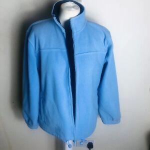 Dunnes Stores Women's Blue Full Zip Fleece Jacket Size 14-16.