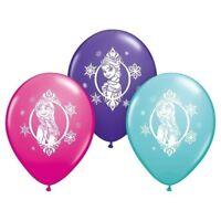 "Disney Frozen Anna Elsa Latex 12"" Balloon 6 Pack Party Decorating Supplies"