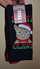 Two Sox SANTA CLAWS Christmas Socks Mens Crew Socks Size 10-13