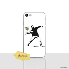 """Banksy Case/Cover Apple iPhone 7 (4.7"""") / Screen Protector / Silicone / Flowers"""