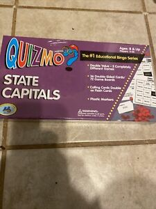 Quizmo State Capitals Educational Bingo Series game BRAND NEW!