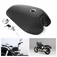 Motorcycle 9L 2.4 Gallon Fuel Gas Tank For Honda CG125 AA001 Cafe Racer Black <