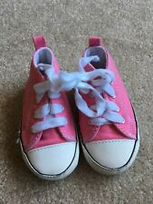 Baby Girl Toddler Converse Soft Sole Pink Lace Up Shoes