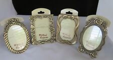 The Weston Gallery BRASS Mini Frames SET of 4   NWT