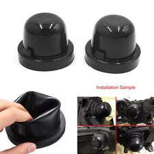 2Pcs Car LED Headlight Rubber Housing Seal Cap Dust Cover for HID Conversion Kit