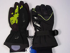 New Reusch Ski Gloves Junior Size Small (5) Alert Event #2692377 Black and Lime