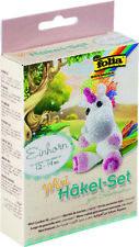 Folia Mini Häkel-Set Einhorn ca. 12-14cm zum Selbermachen Häkeln 23910 Basteln