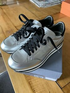 Hogan (Tod's) Schuhe Damen Sneaker H222 Silber Shoes Silver Gr:38 Top
