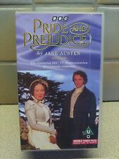 JANE AUSTEN PRIDE AND PREJUDICE VHS VIDEO TAPE - DOUBLE PACK - BBC 1995 VERSION