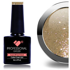 *216* VB® Line Gold Glitter UV/LED Soak Off Nail Colour Polish Gel