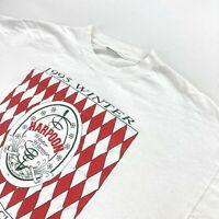 VTG 1995 Men's Boston Massachusetts Lager Single Stitch T-Shirt White • XL