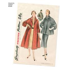 S8509 Simplicity 8509 SEWING PATTERN Vintage 1950s Lined Coat Jacket Sleeve Var